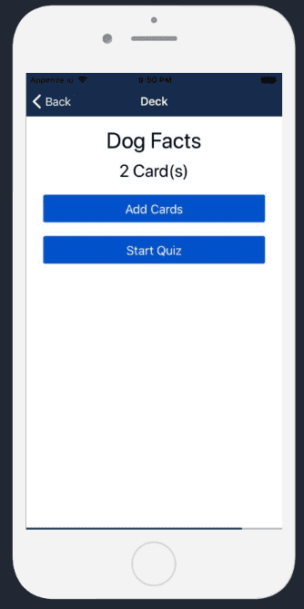 React Native Flashcards